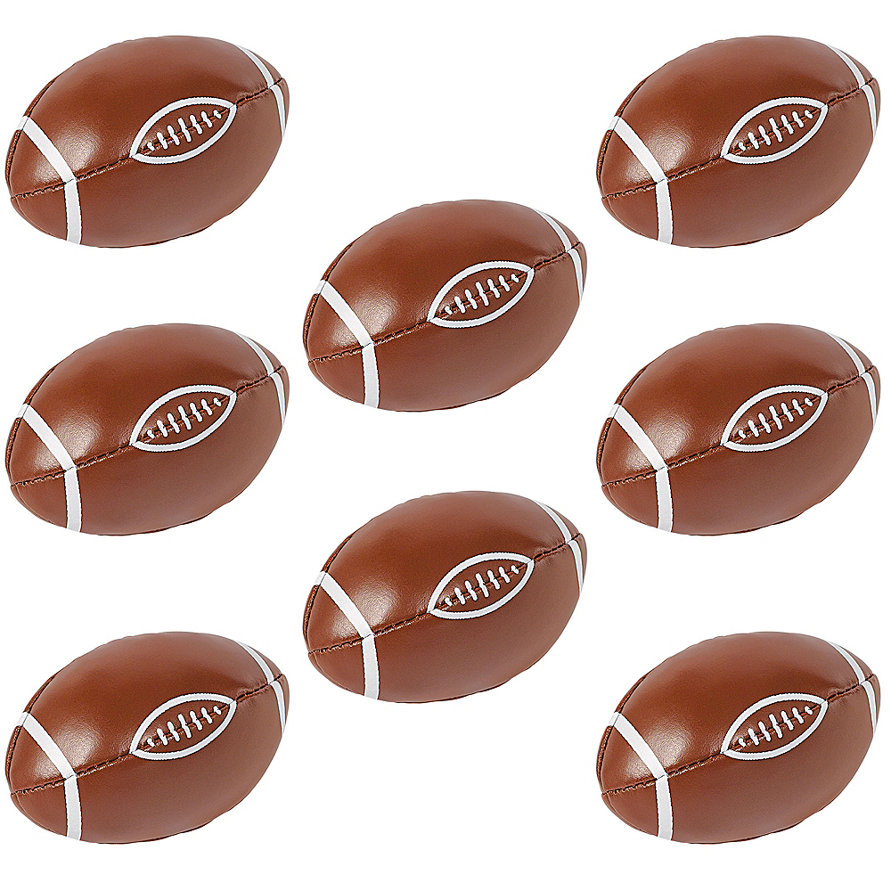 Soft Mini Footballs, 12ct Image #1