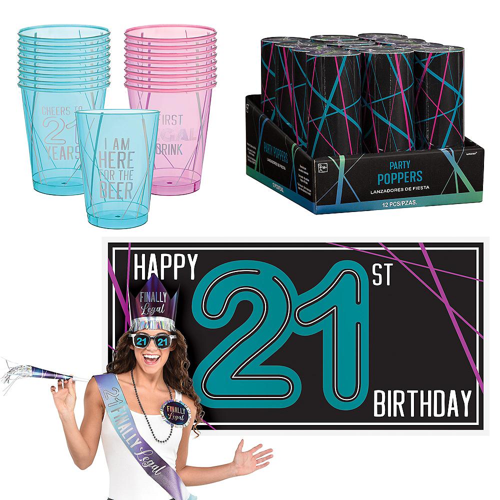 Finally 21 Birthday Decorating Kit Image #1