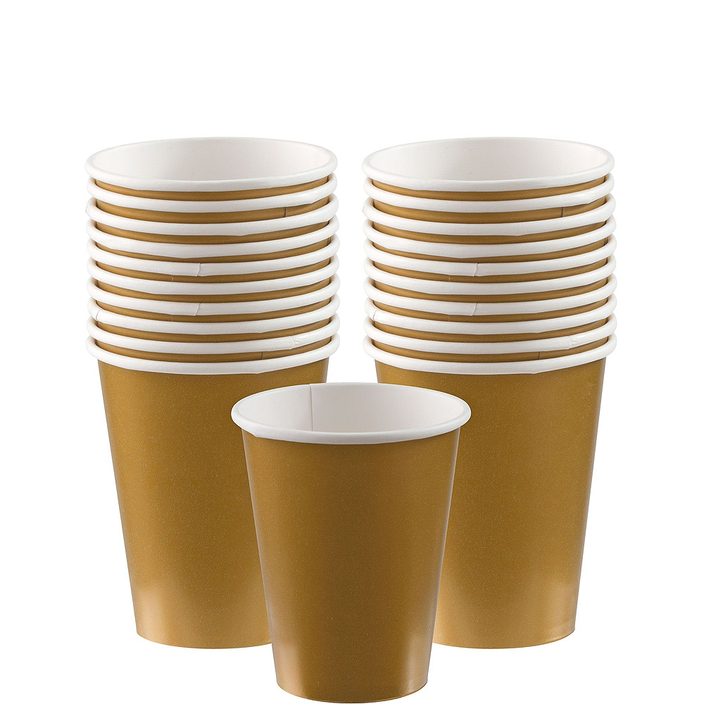 Multicolor & Metallic Gold Happy Dot Birthday Tableware Kit for 16 Guests Image #6