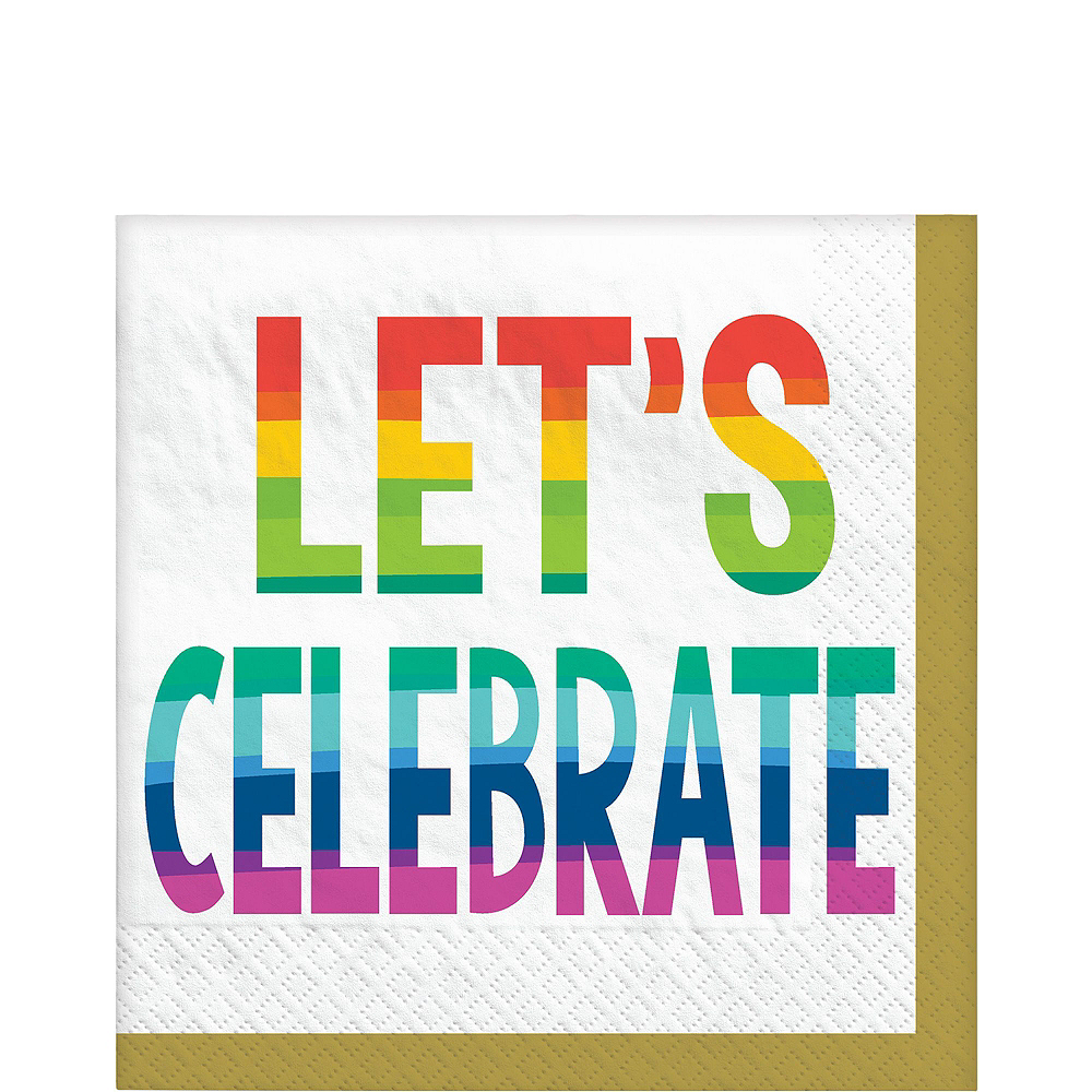 Rainbow Wishes Birthday Tableware Kit for 18 Guests Image #4