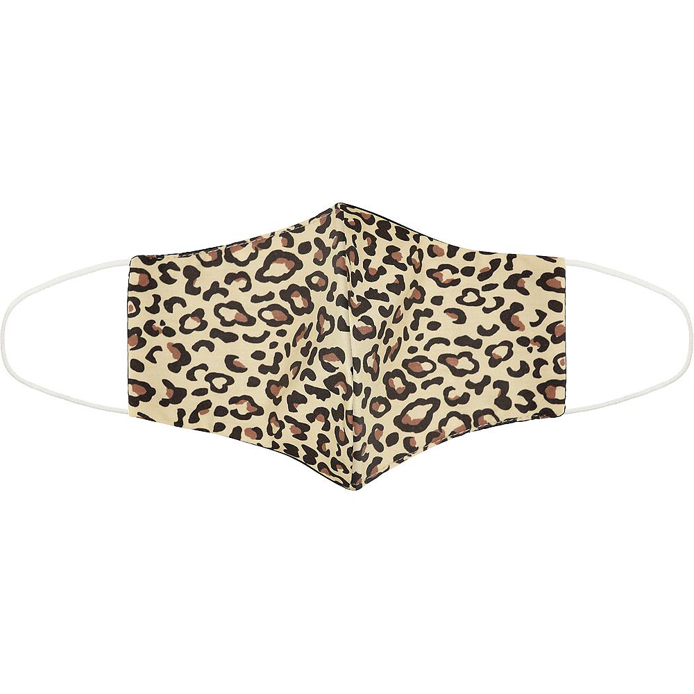 Adult Leopard Print Face Mask Image #1