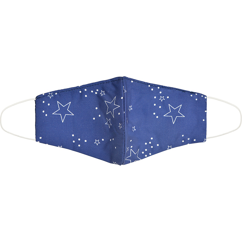 Child Blue Star Face Mask Image #1