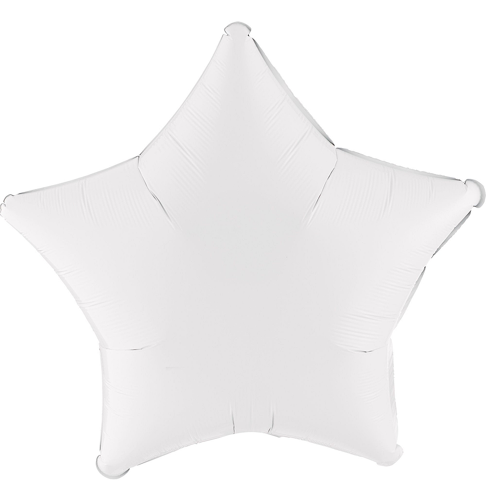 White Star Balloon Bouquet, 19in, 12pc, with Helium Tank Image #2