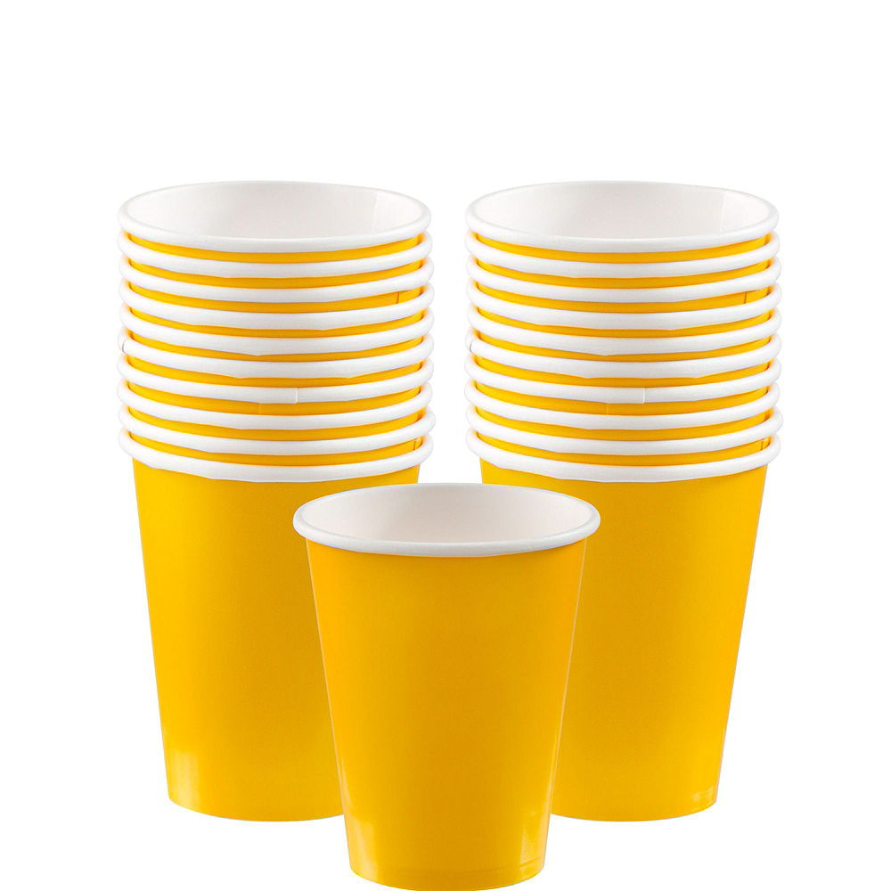 Sunshine Yellow Paper Tableware Kit for 20 Guests Image #6