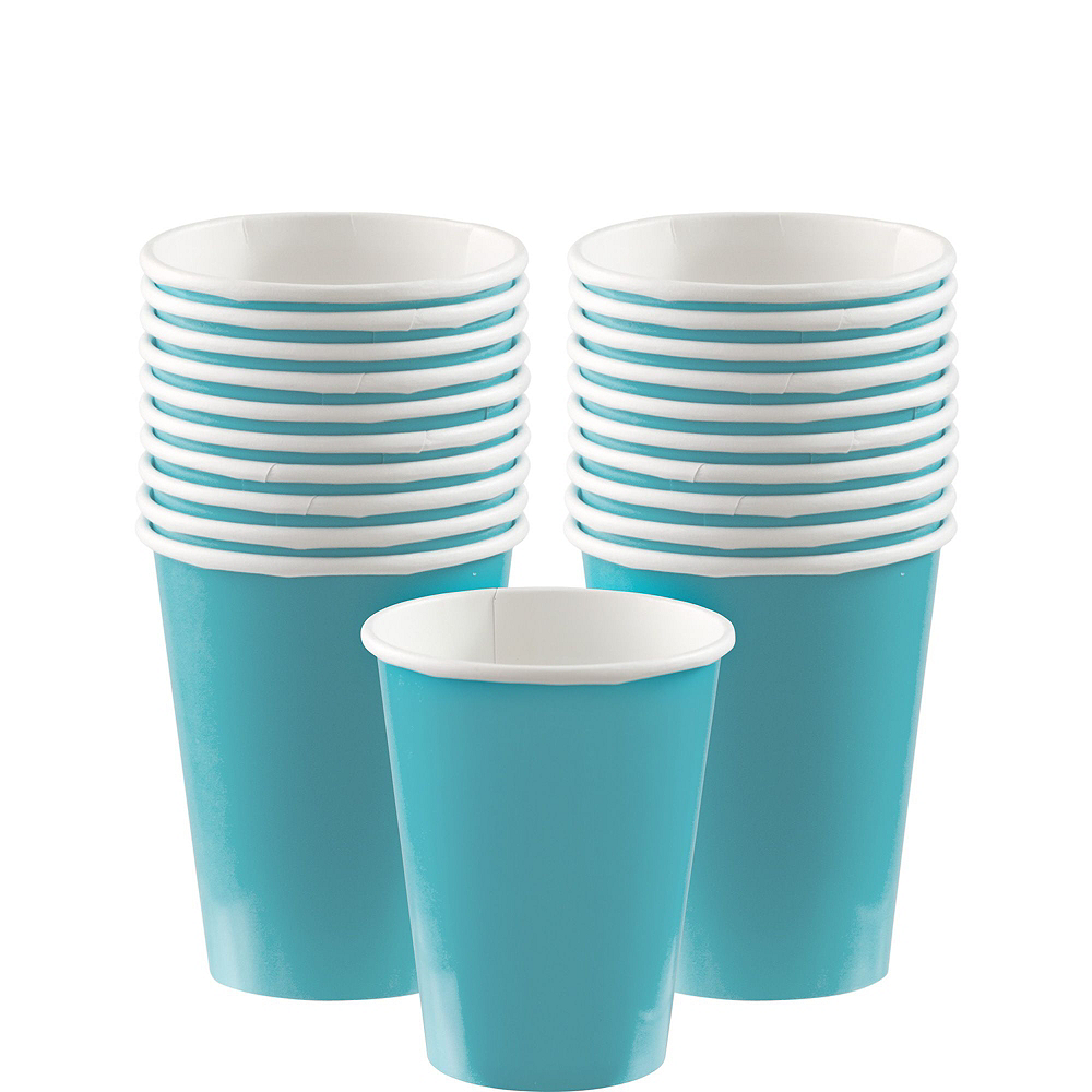 Caribbean Blue Paper Tableware Kit for 20 Guests Image #6