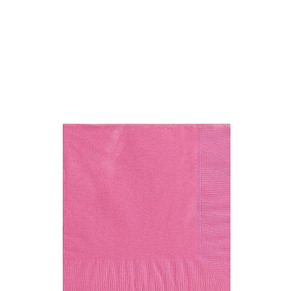 Bright Pink Paper Tableware Kit for 20 Guests Image #4