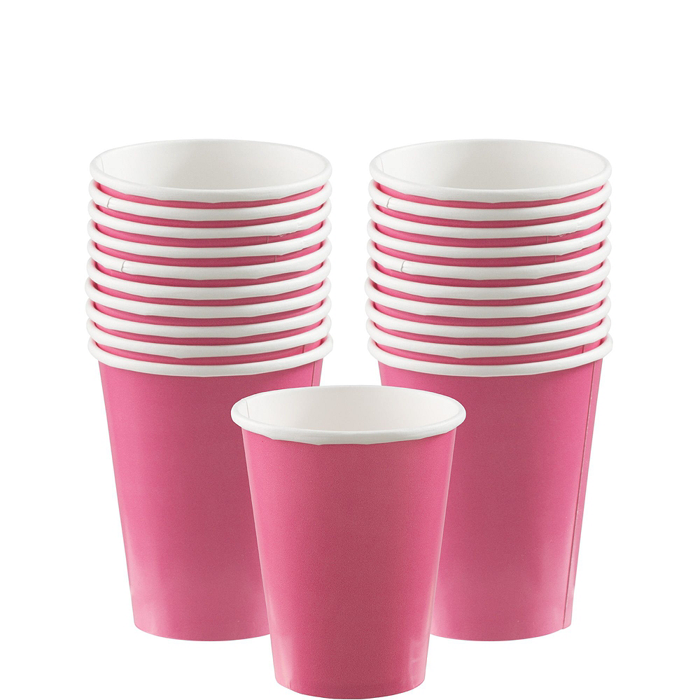 Bright Pink Paper Tableware Kit for 20 Guests Image #6