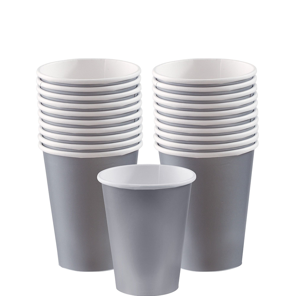 Silver Paper Tableware Kit for 20 Guests Image #6