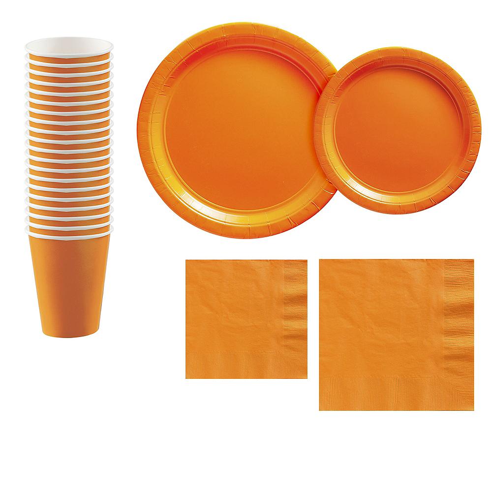 Orange Paper Tableware Kit for 20 Guests Image #1