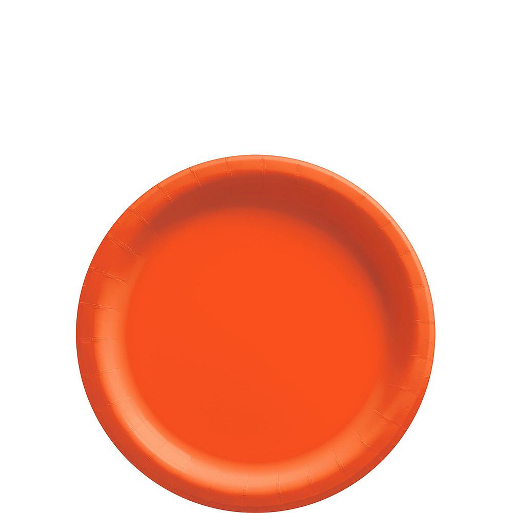 Orange Paper Tableware Kit for 20 Guests Image #2