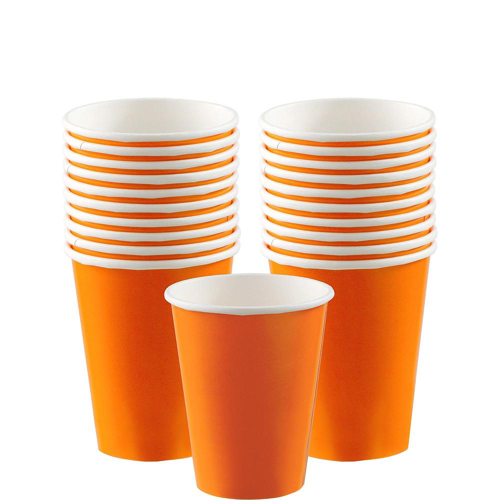 Orange Paper Tableware Kit for 20 Guests Image #6
