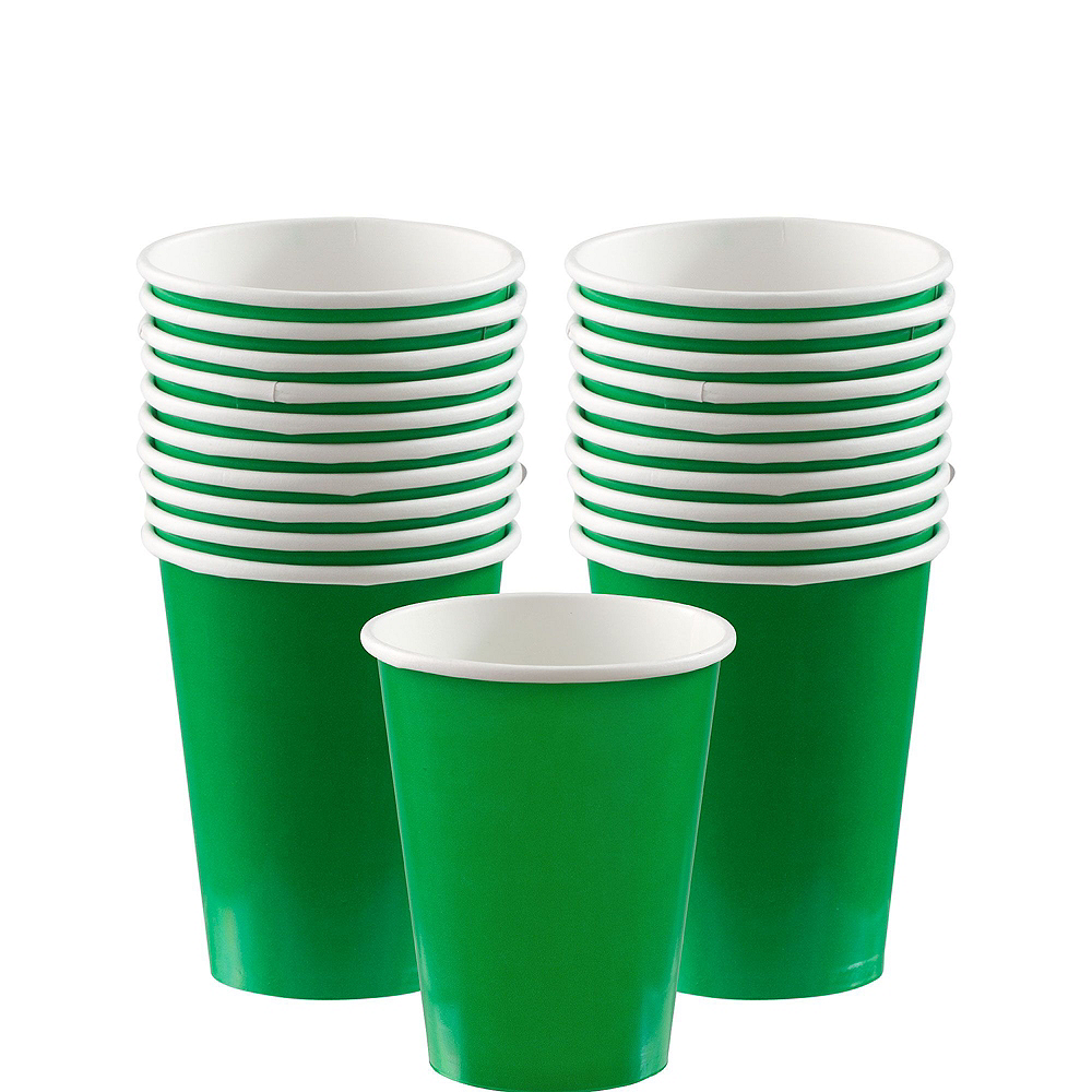 Festive Green Paper Tableware Kit for 20 Guests Image #6