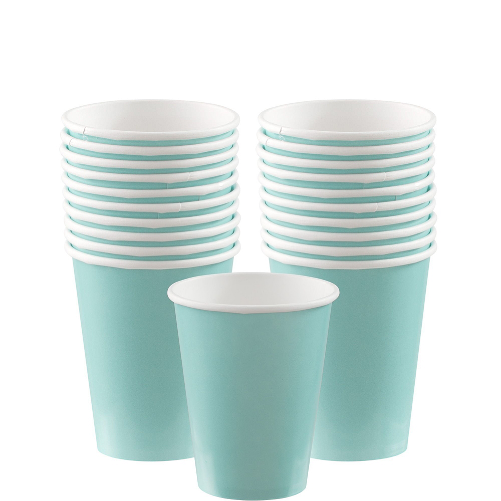Robin's Egg Blue Paper Tableware Kit for 20 Guests Image #6