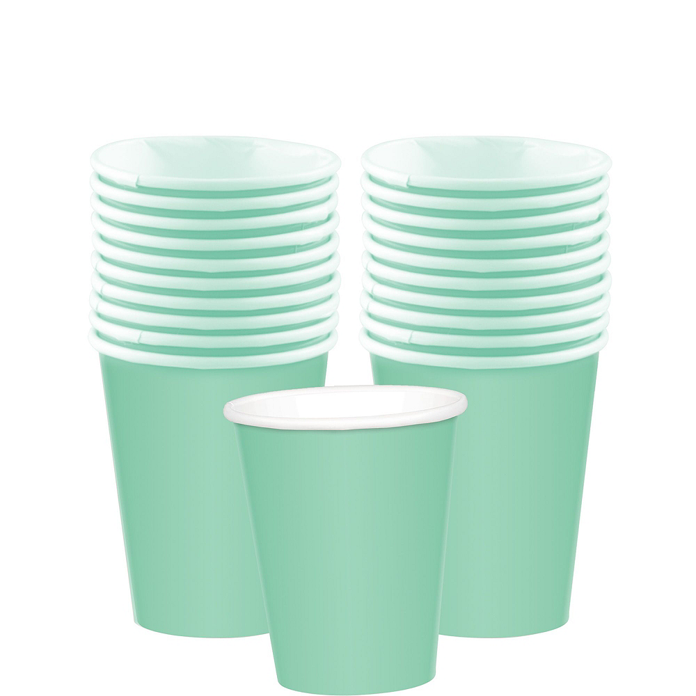 Mint Green Paper Tableware Kit for 20 Guests Image #6