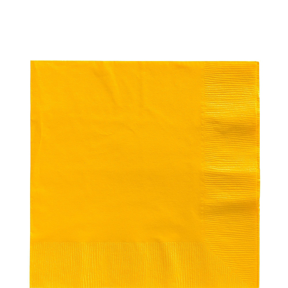 Sunshine Yellow Plastic Tableware Kit for 20 Guests Image #5