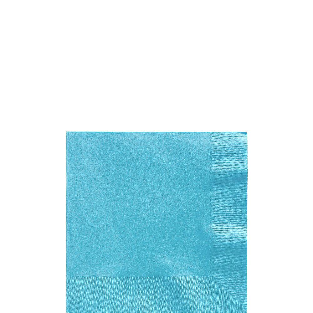 Caribbean Blue Plastic Tableware Kit for 20 Guests Image #4