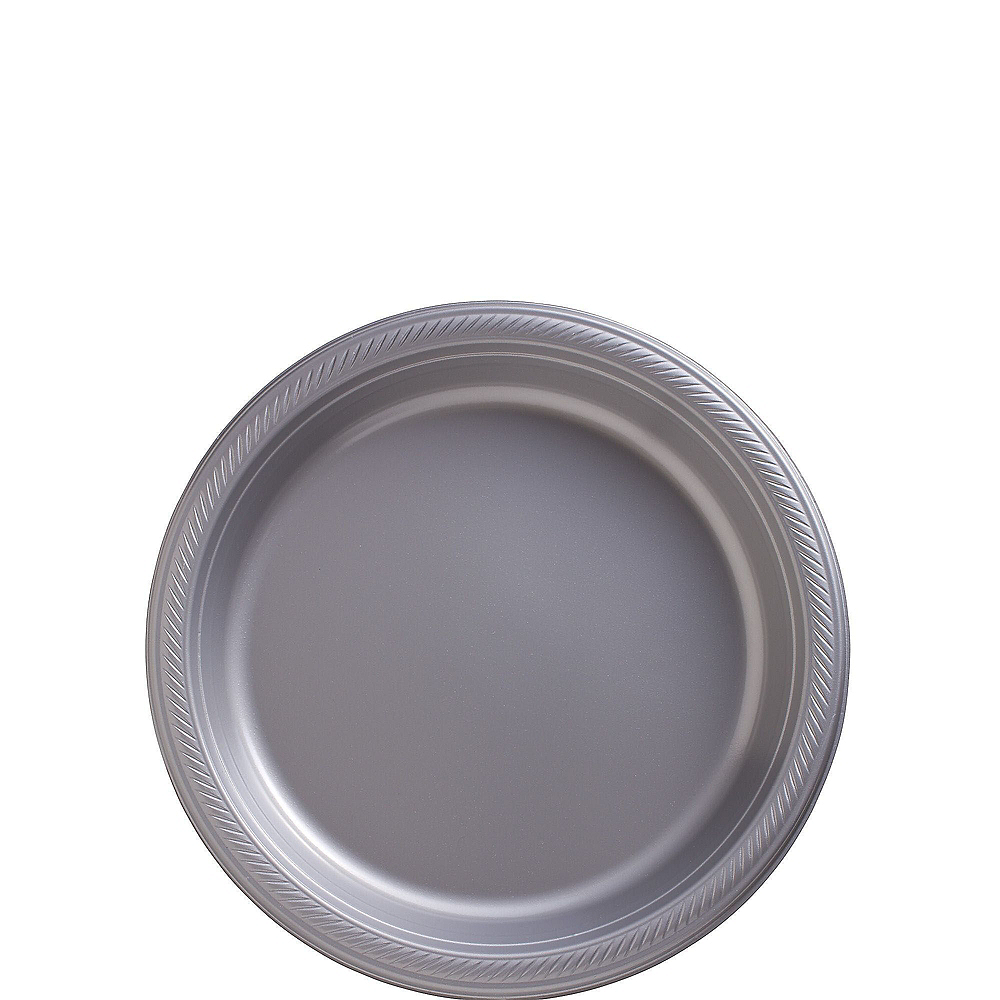 Silver Plastic Tableware Kit for 20 Guests Image #2