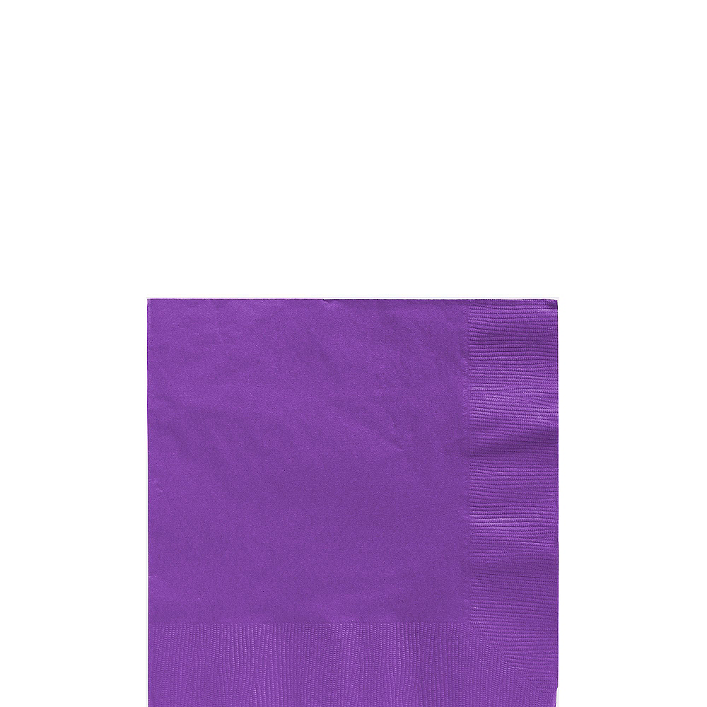 Purple Plastic Tableware Kit for 20 Guests Image #4