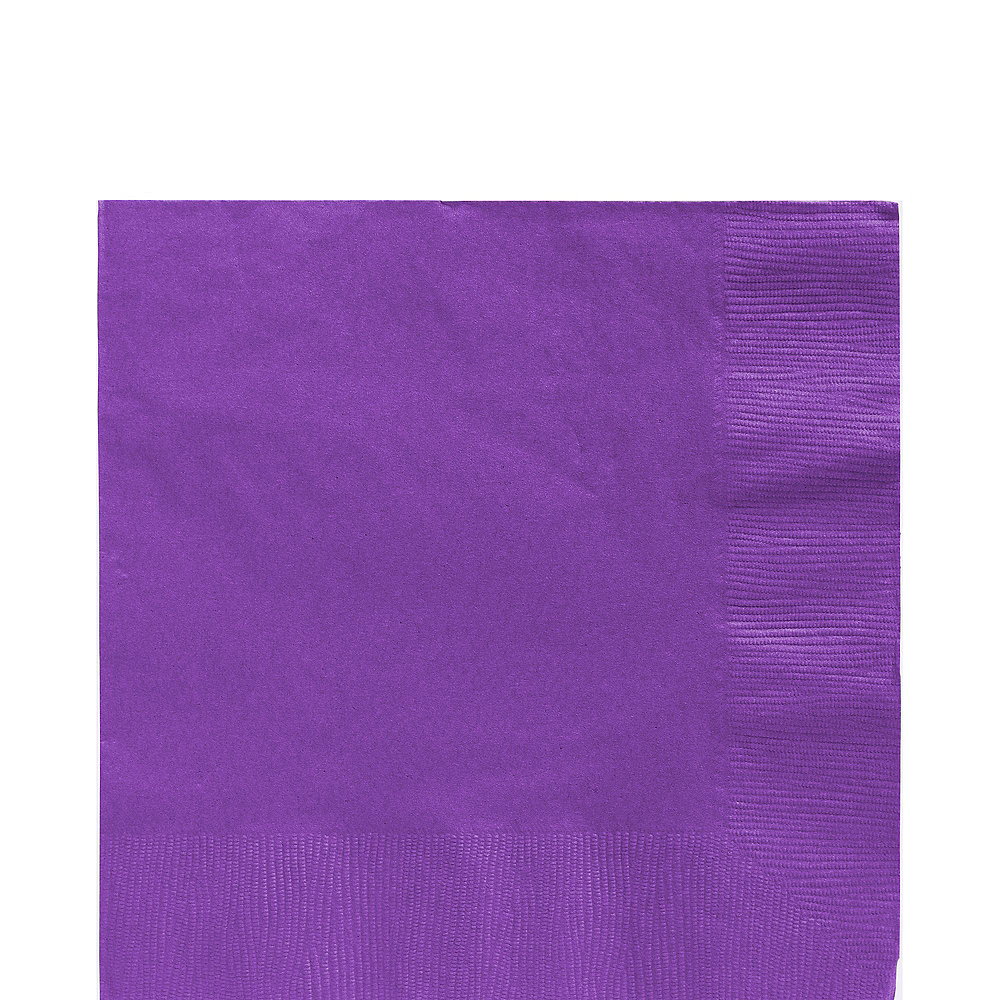 Purple Plastic Tableware Kit for 20 Guests Image #5