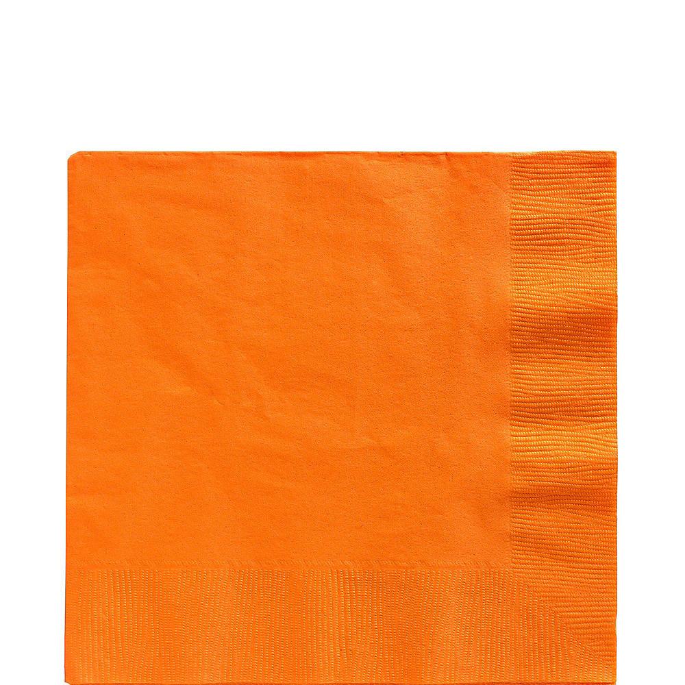 Orange Plastic Tableware Kit for 20 Guests Image #5