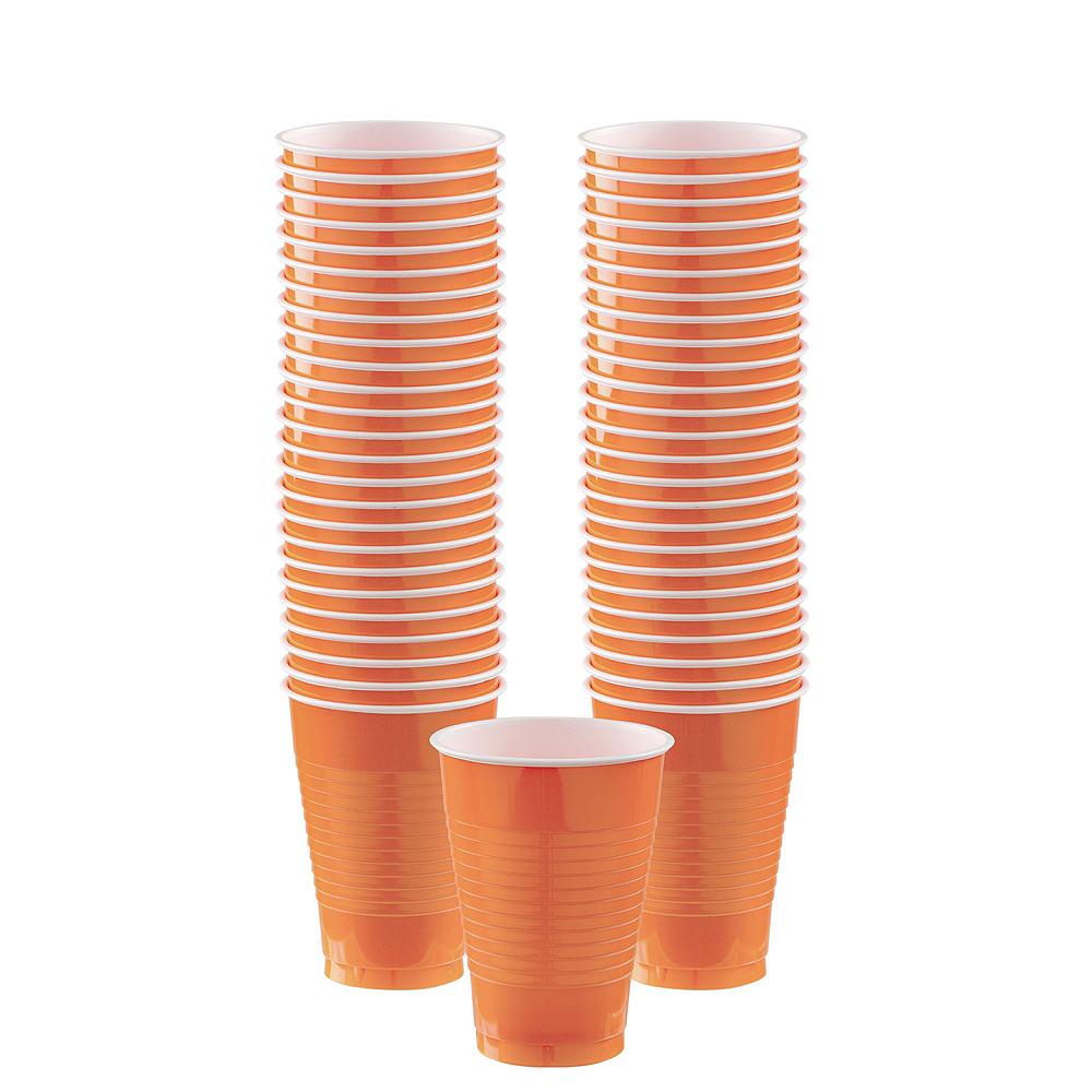 Orange Plastic Tableware Kit for 20 Guests Image #6