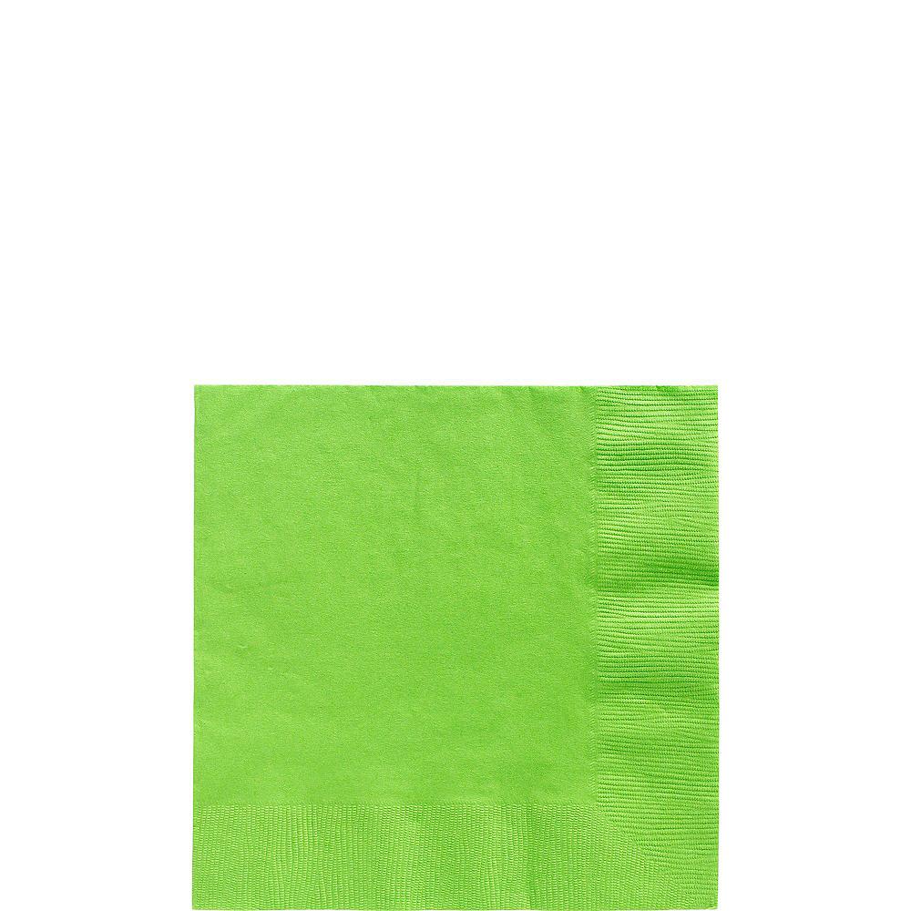 Kiwi Green Plastic Tableware Kit for 20 Guests Image #4