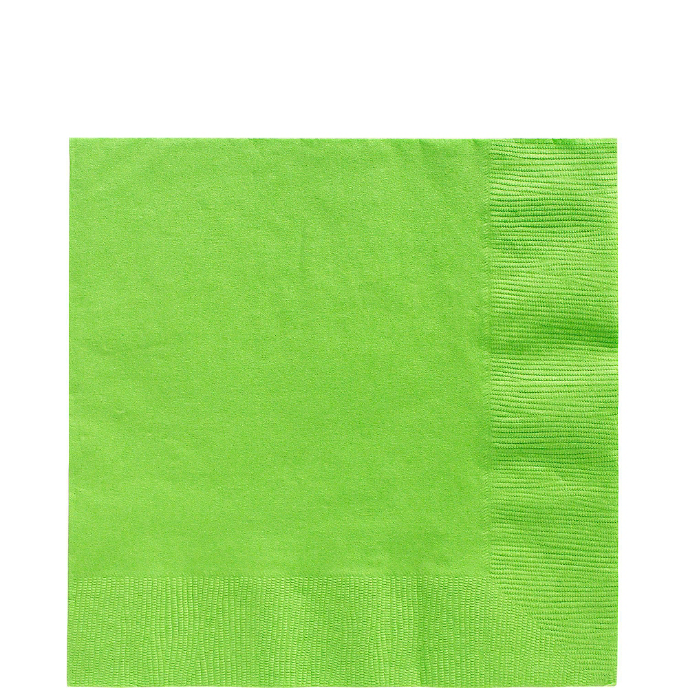Kiwi Green Plastic Tableware Kit for 20 Guests Image #5