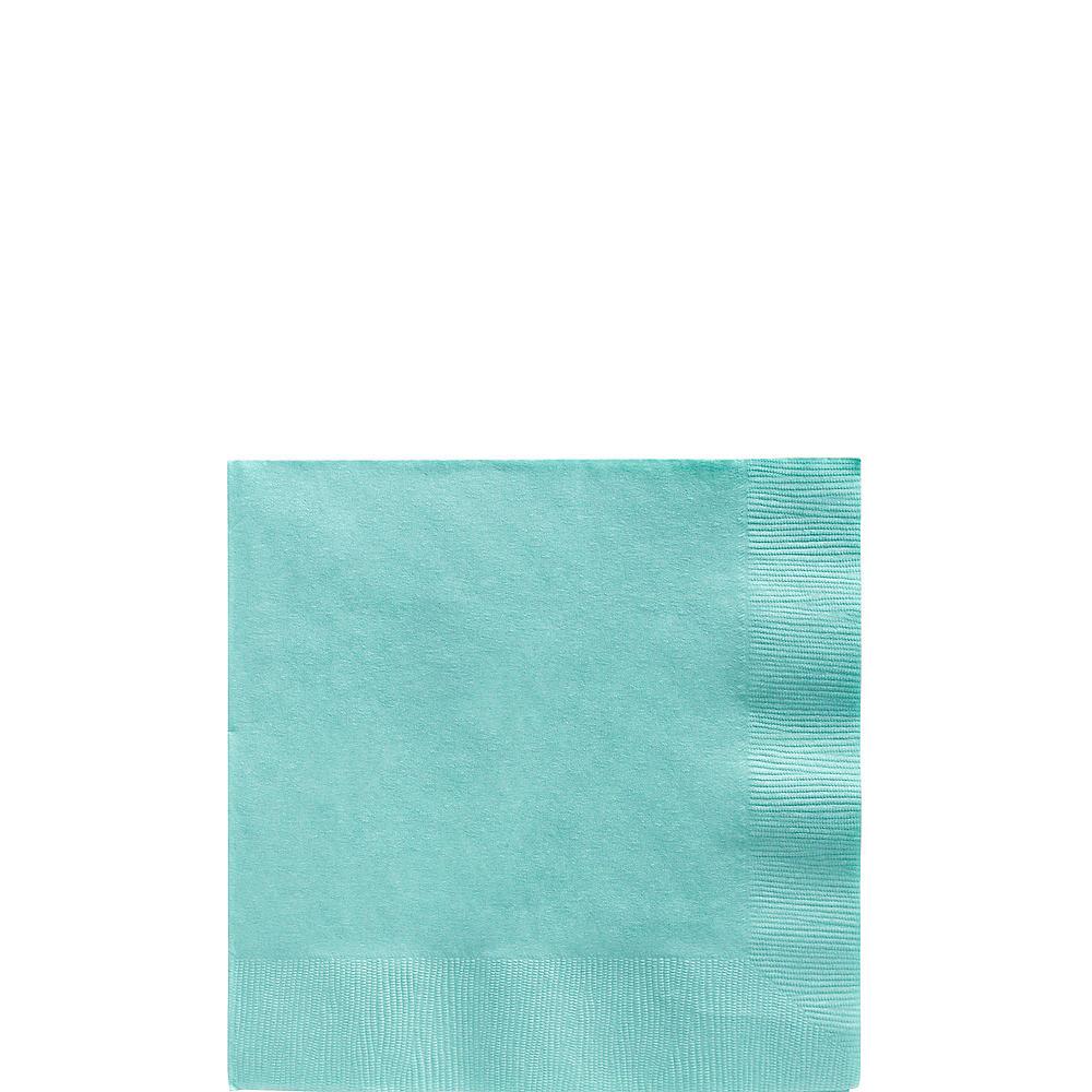 Robin's Egg Blue Plastic Tableware Kit for 20 Guests Image #4