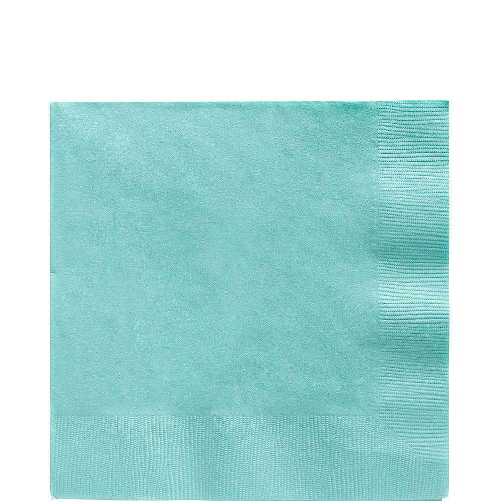 Robin's Egg Blue Plastic Tableware Kit for 20 Guests Image #5