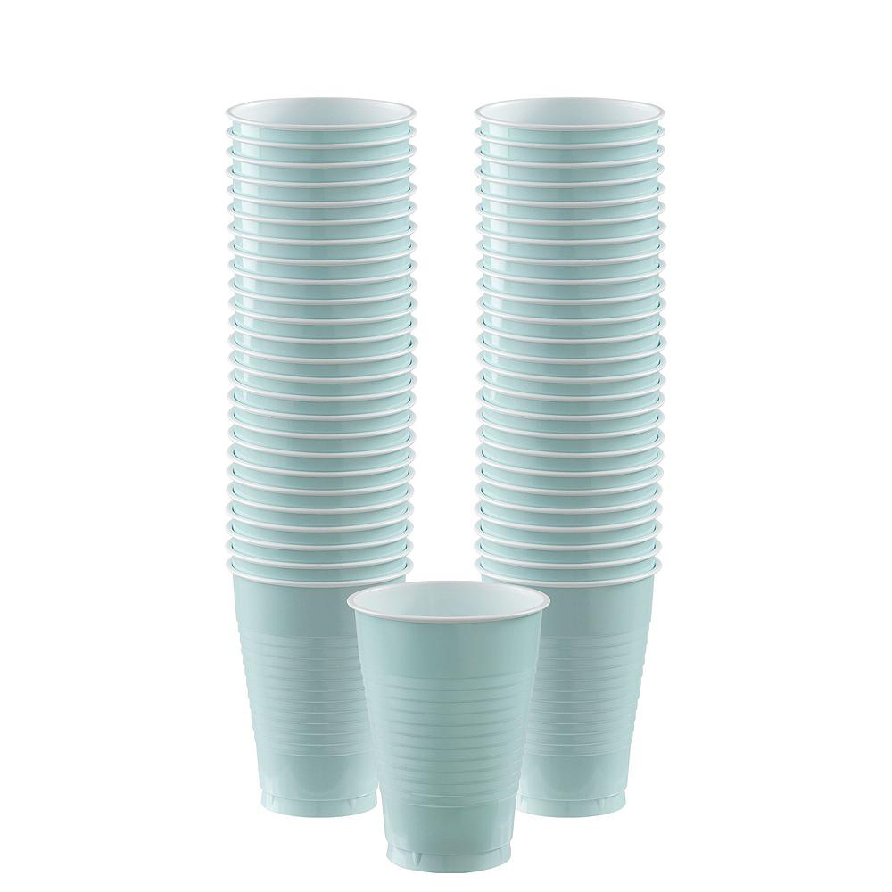 Robin's Egg Blue Plastic Tableware Kit for 20 Guests Image #6