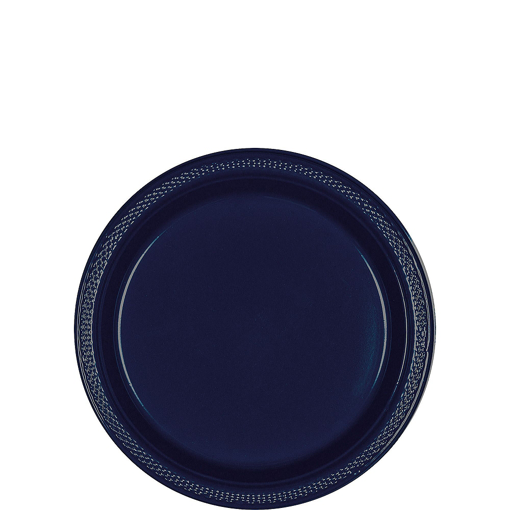 True Navy Plastic Tableware Kit for 20 Guests Image #2