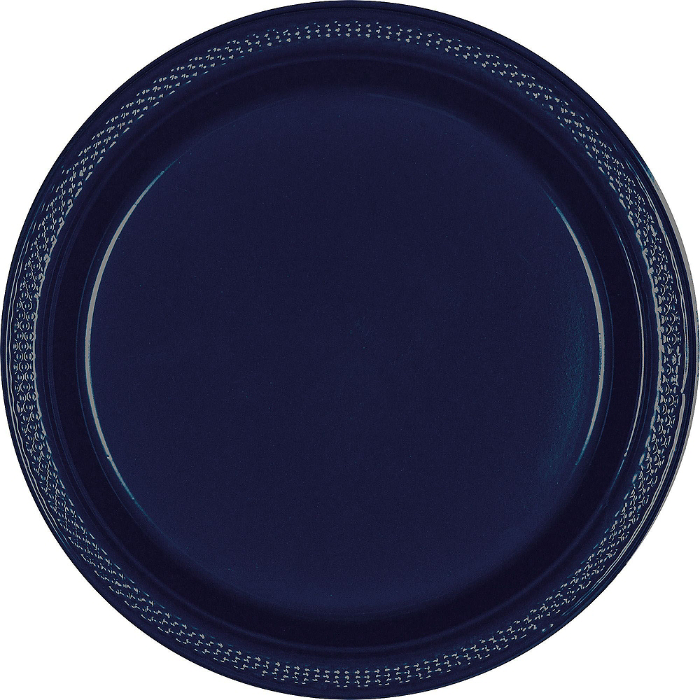 True Navy Plastic Tableware Kit for 20 Guests Image #3