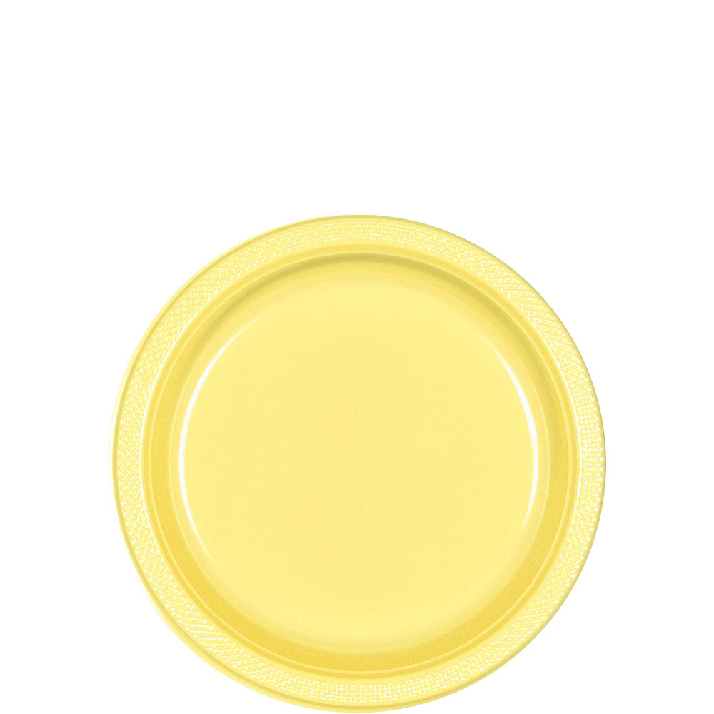 Light Yellow Plastic Tableware Kit for 20 Guests Image #2