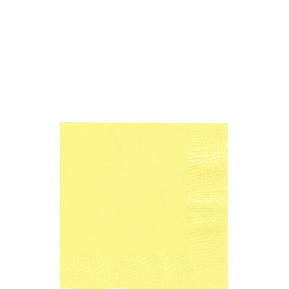 Light Yellow Plastic Tableware Kit for 20 Guests Image #4