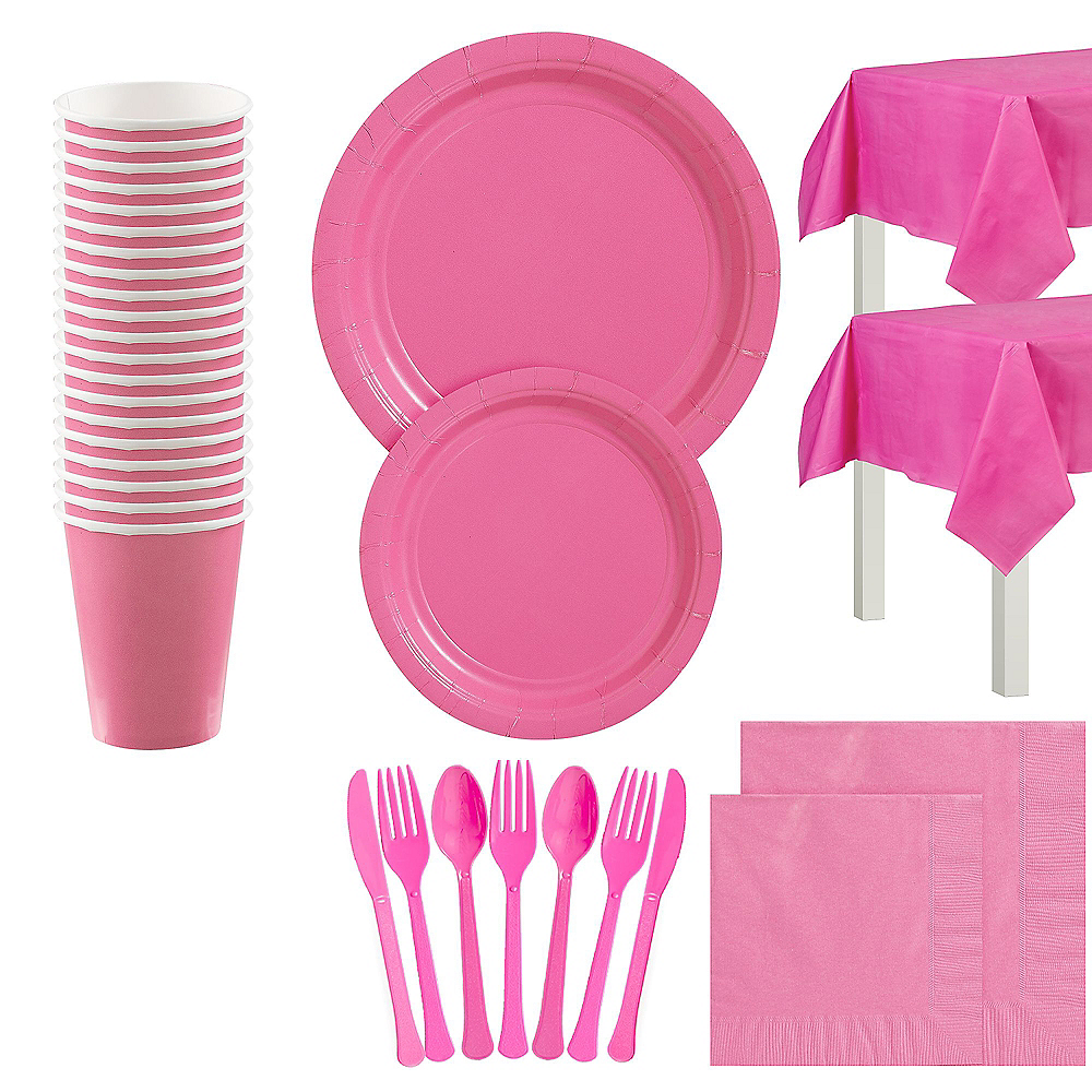 Bight Pink Tableware Kit for 20 Guests Image #1