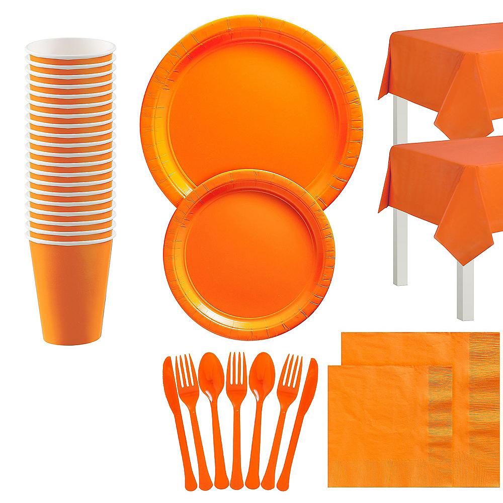 Orange Tableware Kit for 20 Guests Image #1