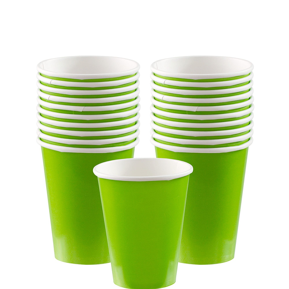 Kiwi Green Tableware Kit for 20 Guests Image #6