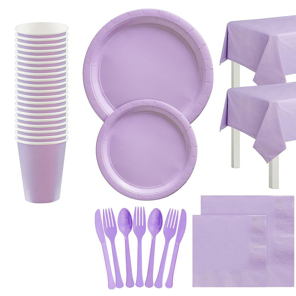 Lavender Tableware Kit for 20 Guests Image #1