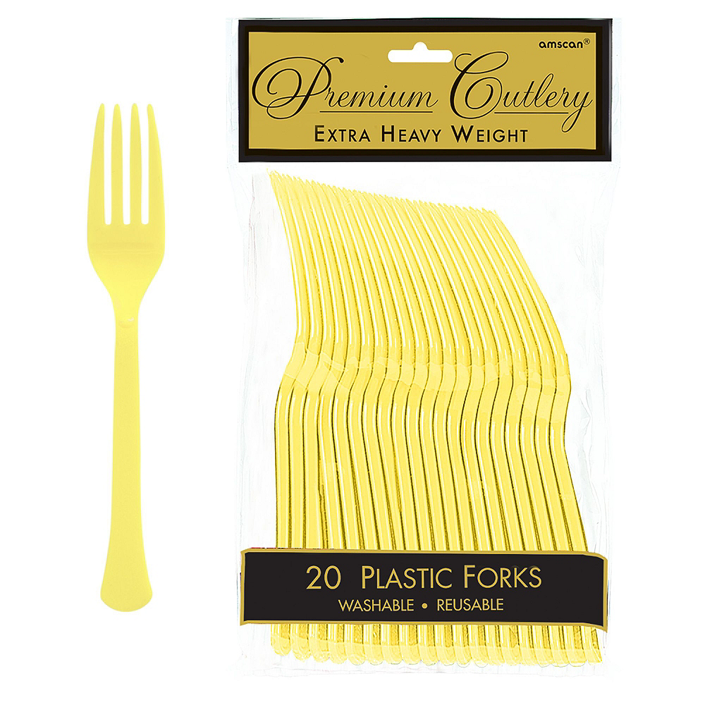 Light Yellow Tableware Kit for 20 Guests Image #8