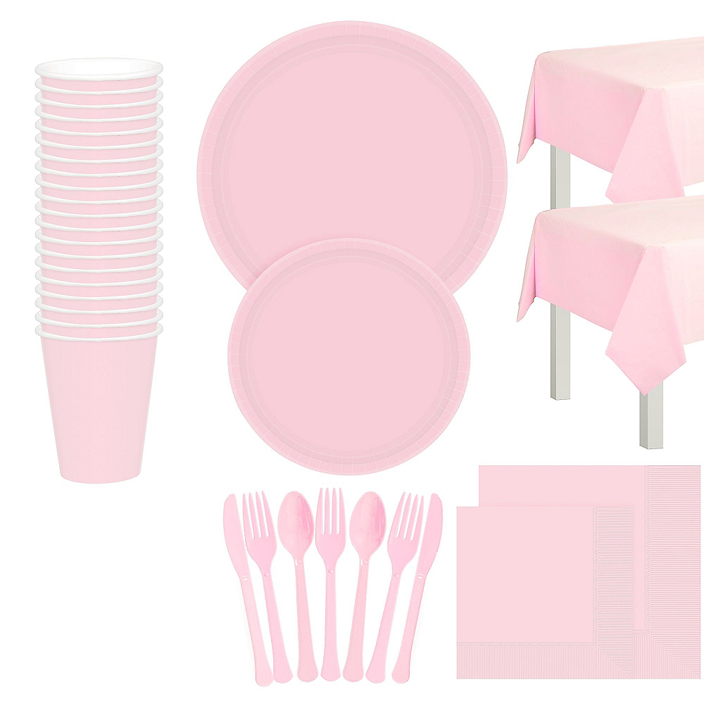 Blush Pink Tableware Kit for 20 Guests Image #1