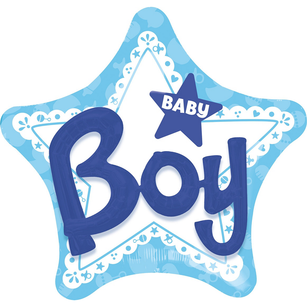 Baby Boy Star Deluxe Balloon Bouquet, 11pc Image #4