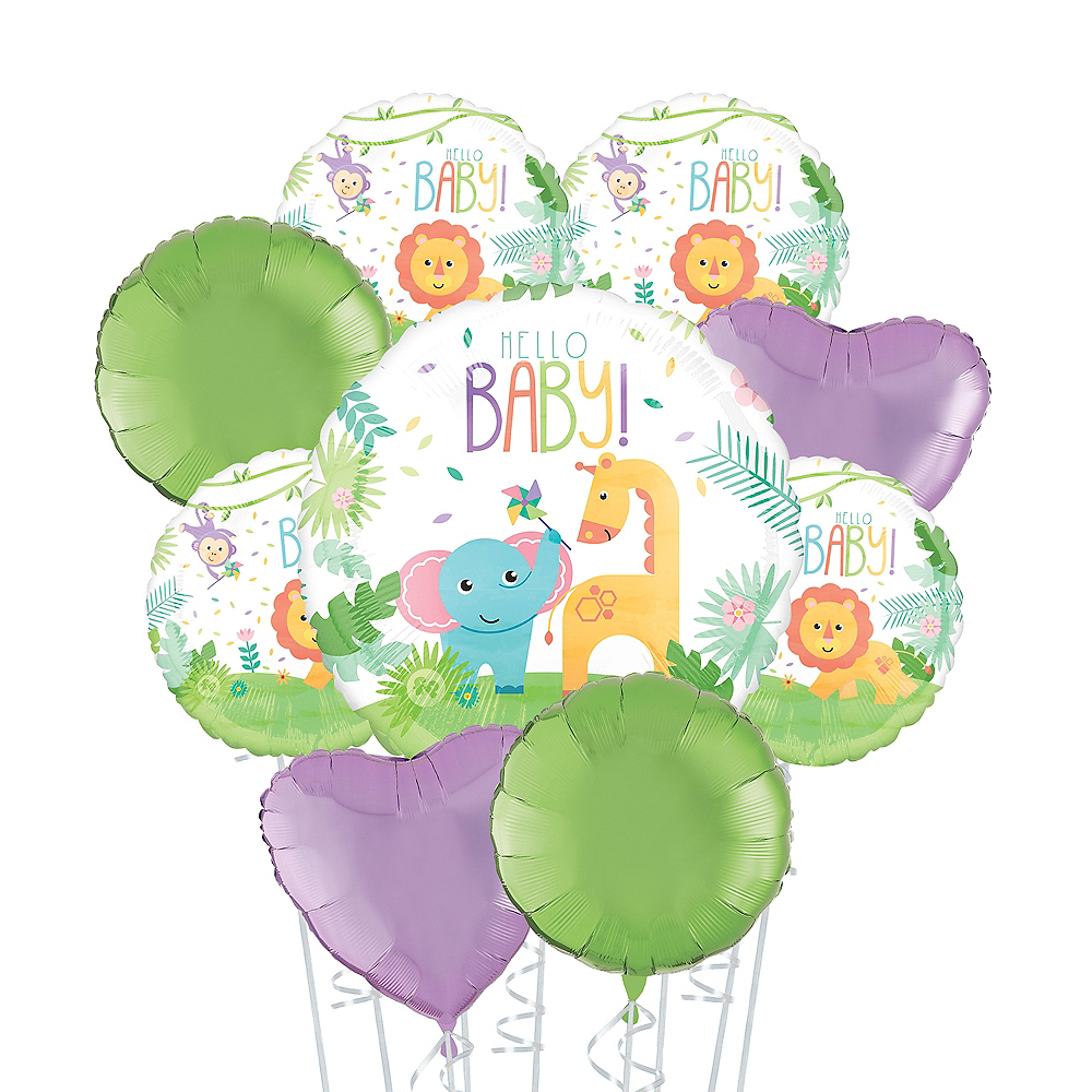Fisher-Price Hello Baby Deluxe Balloon Bouquet, 9pc Image #1