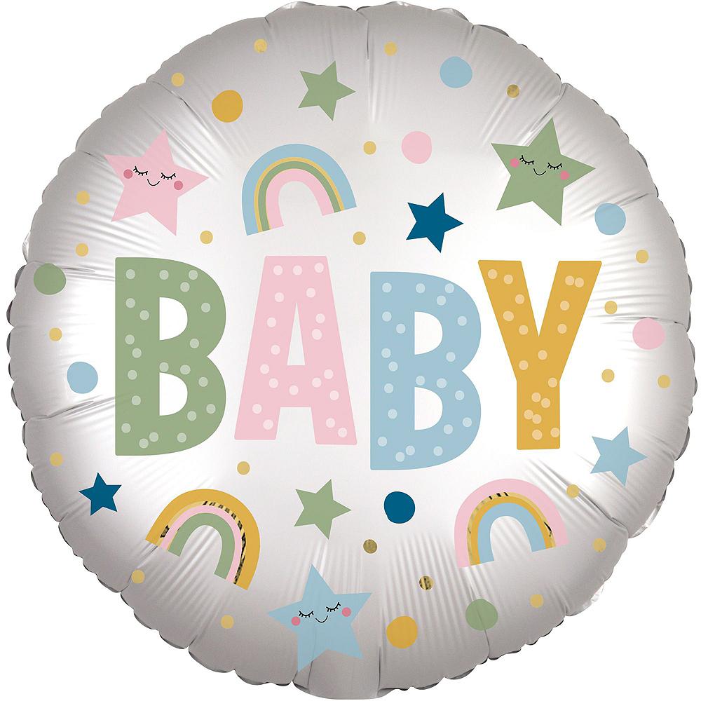 Dot, Rainbow & Star Baby Deluxe Balloon Bouquet, 9pc Image #4