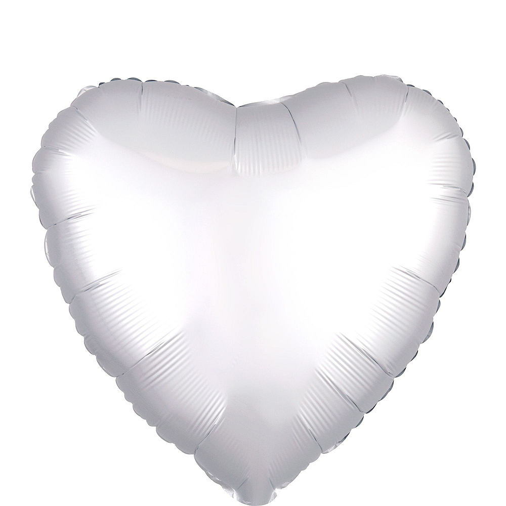 Silver Heart Deluxe Balloon Bouquet, 7pc Image #4