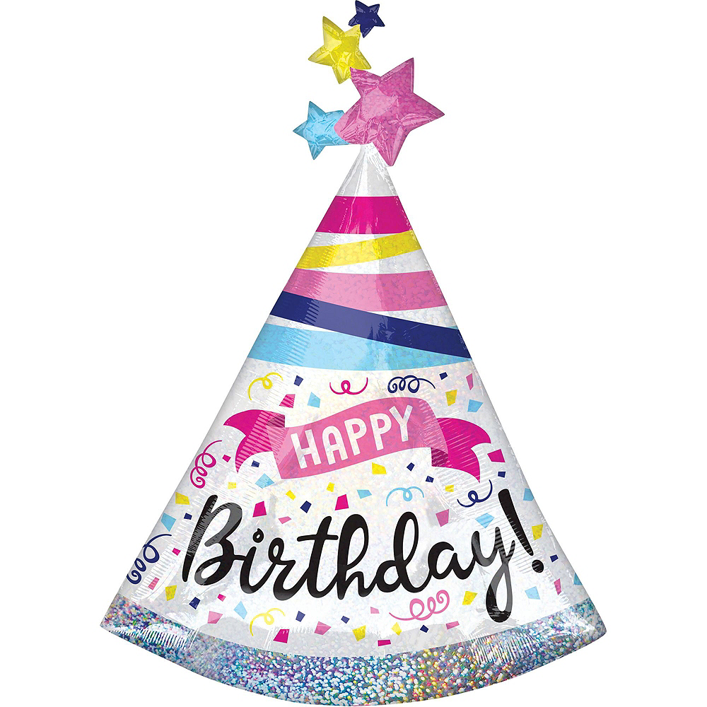 Prismatic Confetti Happy Birthday Deluxe Balloon Bouquet, 8pc Image #6