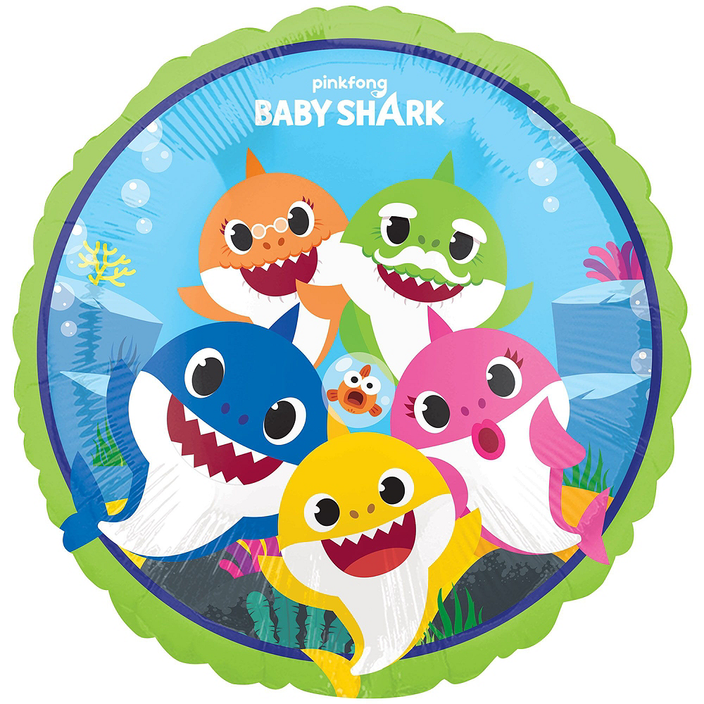 Baby Shark Deluxe Balloon Bouquet, 9pc Image #3