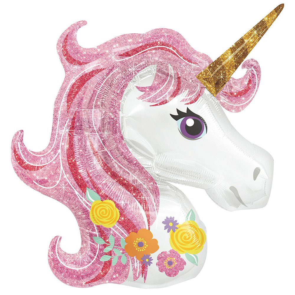 Magical Unicorn Deluxe Airwalker Balloon Bouquet, 8pc Image #3