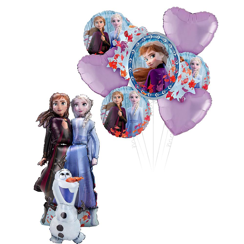 Frozen 2 Deluxe Airwalker Balloon Bouquet, 8pc Image #1