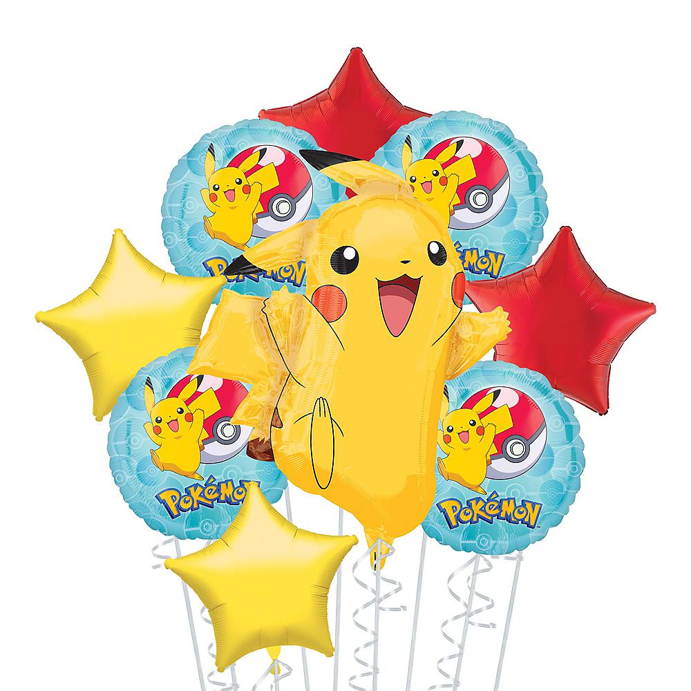 Pokemon Deluxe Balloon Bouquet, 9pc Image #1