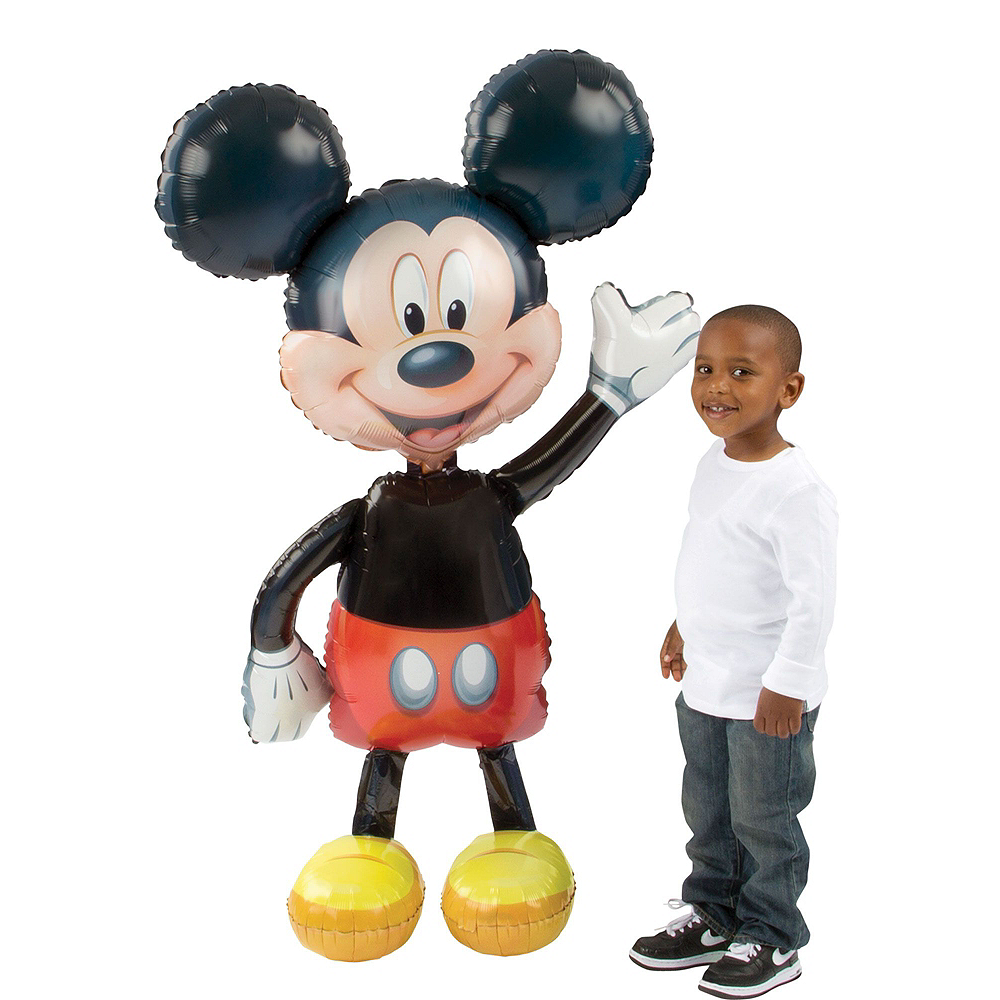 Mickey Mouse Deluxe Airwalker Balloon Bouquet, 8pc Image #2